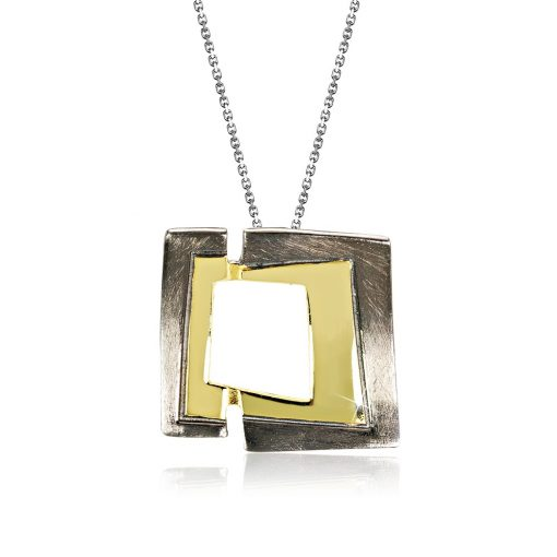 DESIGN ÉKSZER ezüst, nyaklánc medállal - AGM452